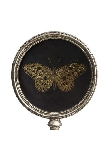 Warm Design Kelebek Dekoratif Obje Siyah
